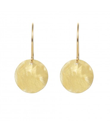 LINK SILVER GOLD SHINY MEDALLIONS EARRINGS