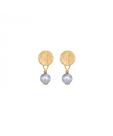 LINK SMALL EARRINGS WITH AQUAMARINE