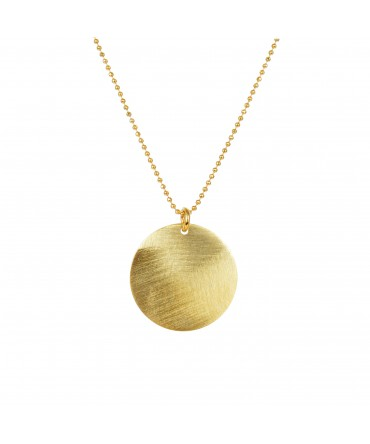 LINK SMALL SILVER GOLD MEDALLION PENDANT