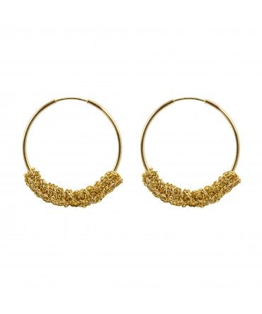 LINK SMALL HOOPS WITH GOLD THREAD