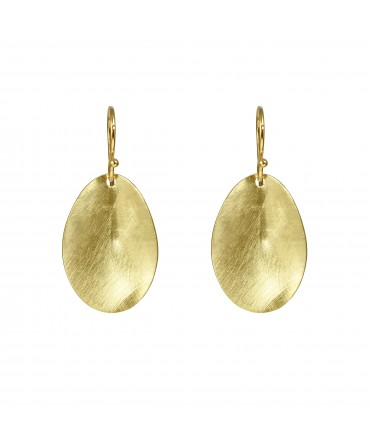 LINK GOLD WAVES EARRINGS WITH GOLD HOOKS