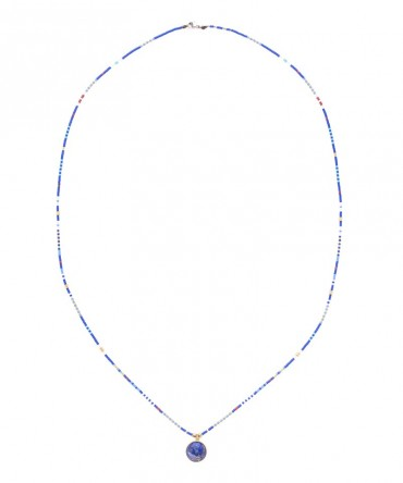MICA LONG NECKLACE WITH LAPIS LAZULLI
