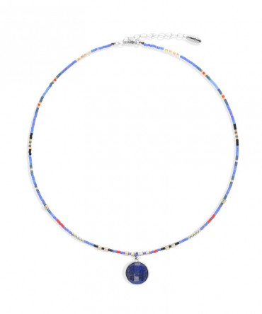 MICA NAVY-BLUE NECKLACE WITH LAPIS LAZULLI
