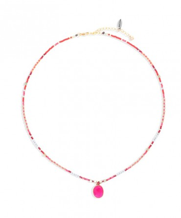 MICA PINK NECKLACE WITH SPINEL