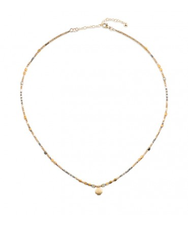MICA GOLD NECKLACE WITH CROSS CHARM